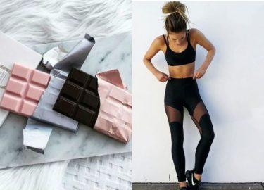 chocolade beschermt je bij het sporten