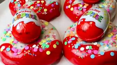 kinder surprise donuts