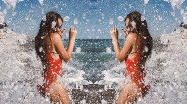 de zee gelukkig