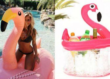 opblaas flamingo action