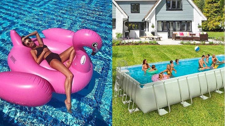 Er is nu een opblaasbaar zwembad van 50 vierkante meter groot for Klein opblaasbaar zwembad