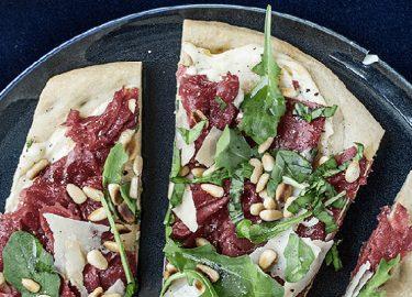 carpaccio pizza maken recept