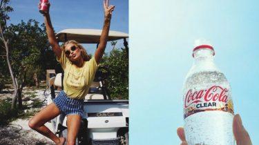 doorzichtige coca cola