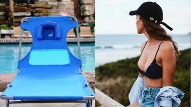 strandbed voor vrouwen met grote borsten