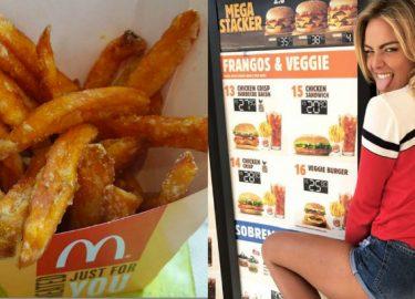 zoete aardappel frietjes mcdonald's
