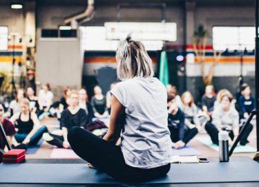 yoga en bier