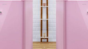 Roze koelkast