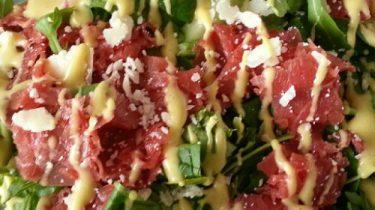 carpaccio salade met truffel gezond lunch
