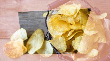chips gebakken ei