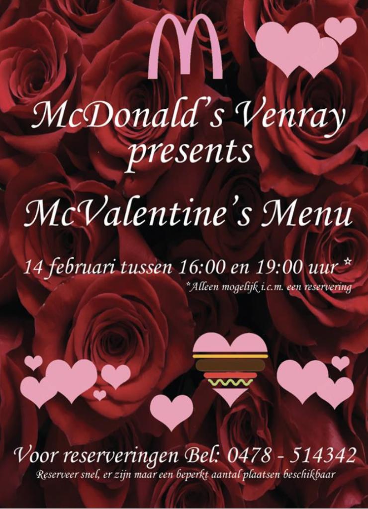 mcdonald's valentijnsdag