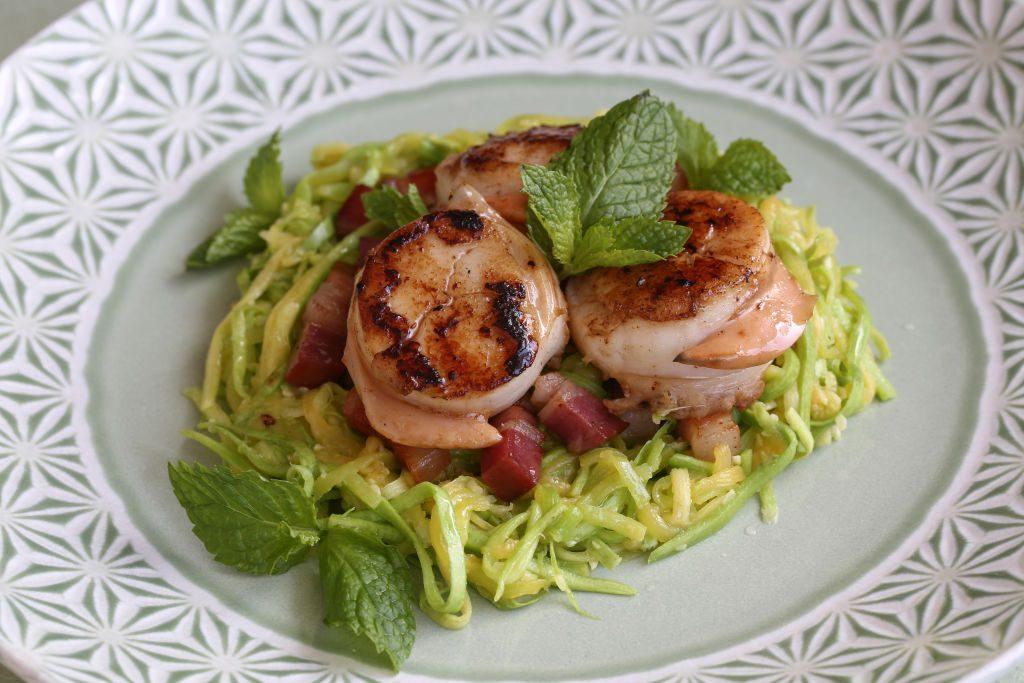 Courgette spaghetti koolhydraatarm dieet