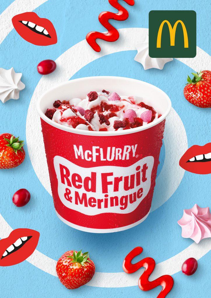 McFlurry Red Fruit Meringue mcdonald's