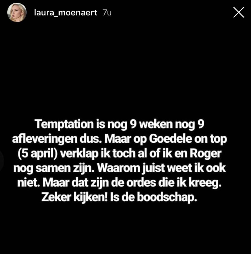 Laura Roger relatie Temptation Island