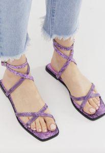 strappy sandalen