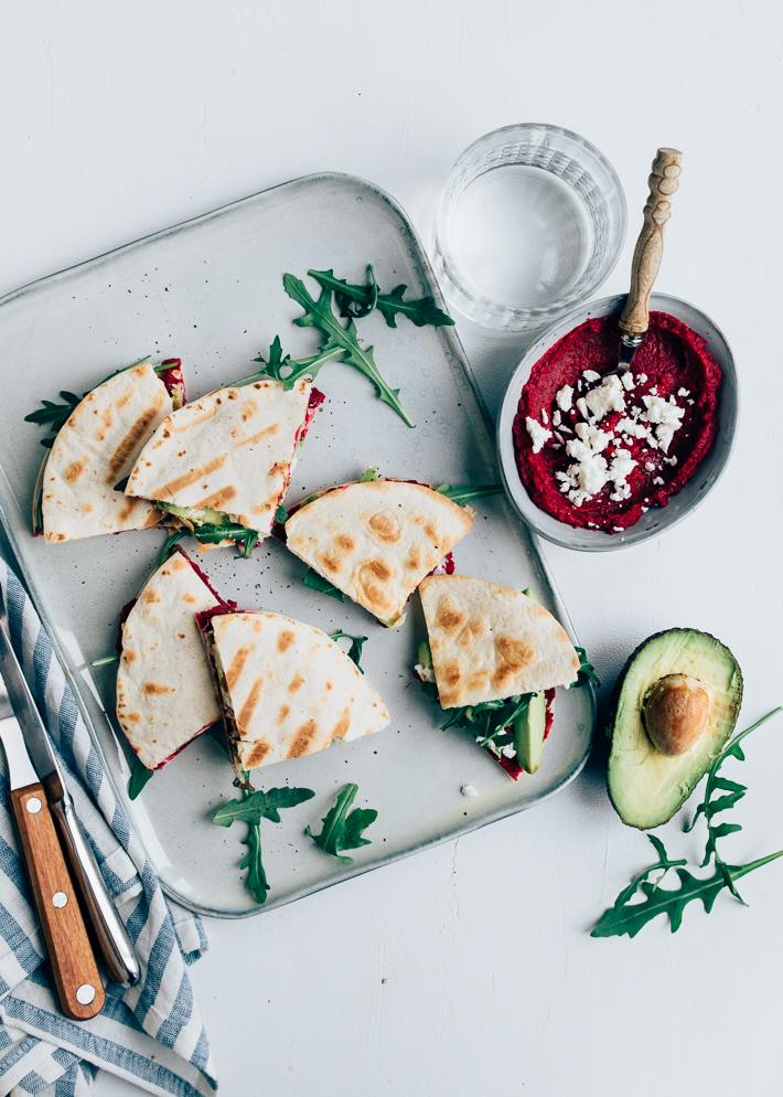 Mini-quesadillas-met-biet als gezonde lunch