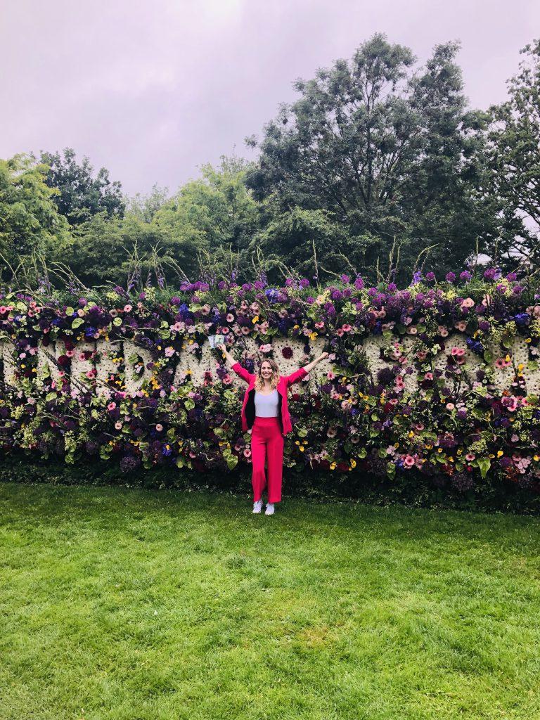 bloemenmuur in het vondelpark