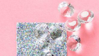 diamanten oorbellen