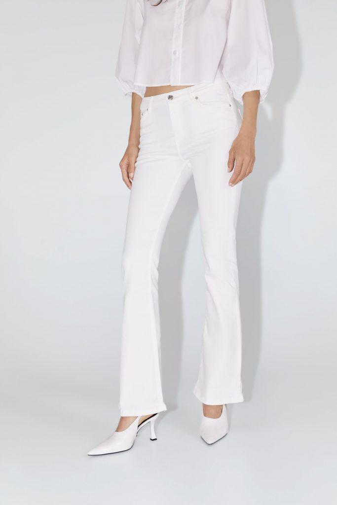 zara witte jeans