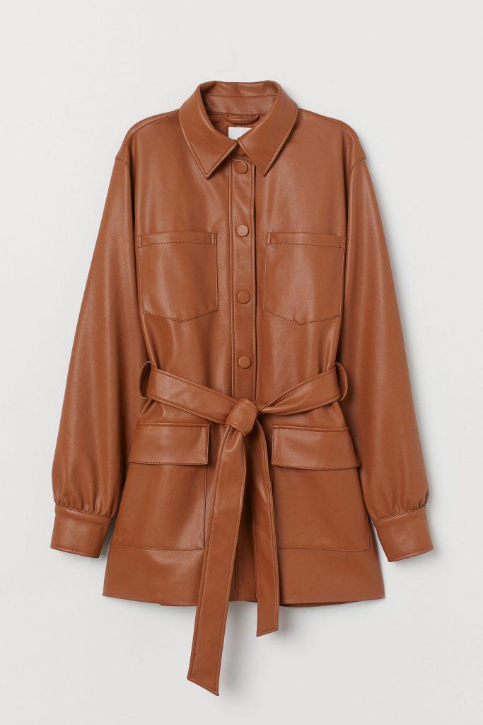 leren jas van H&M