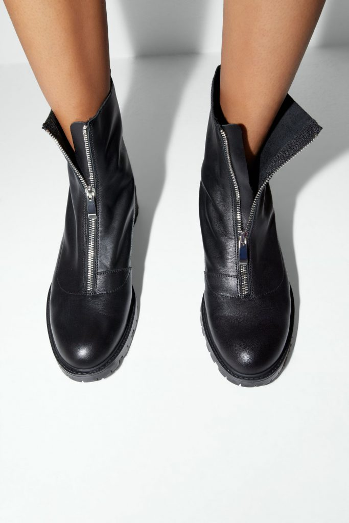 boots met rits van zara