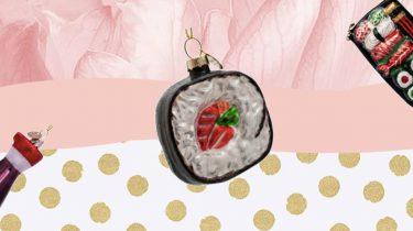 sushi kerstballen van vondels
