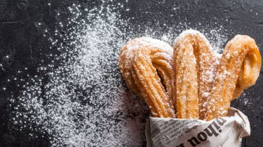 churros nutella kerstboom toetje