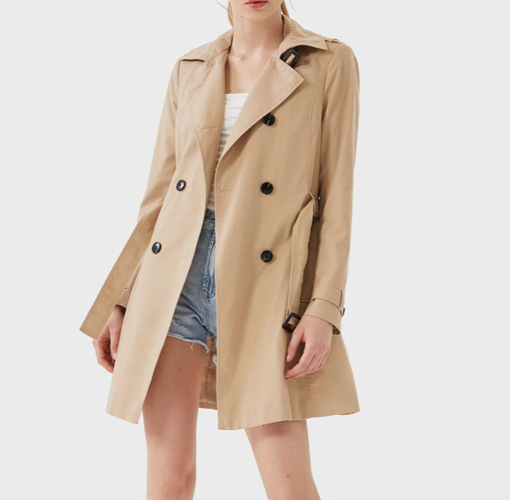 basic trenchcoat asos