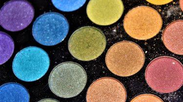 gekleurde make-up pallet